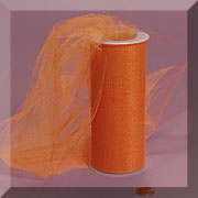 "NYLON TULLE 6"" X 25 YD ORANGE"