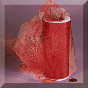 "NYLON TULLE 6"" X 25 YD RED"