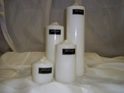 "PILLAR CANDLES 3X3"" WHITE EACH"