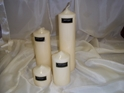 "PILLAR CANDLES 3""X 3"" IVORY EACH"