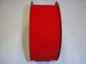 "#40   VELVET RED VEL-PRUF RIBBON    2&1/2""-25 YD/ROLL"