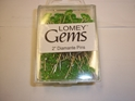 "2"" LOMEY GEMS DIAMANTE GREEN CORSAGE PINS 100/BOX"